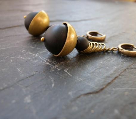 Boucles d'oreilles Audace noire